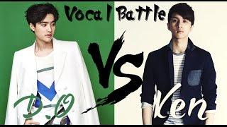 D.o (exo) vs ken (vixx) - vocal battle (f#4 - d5)