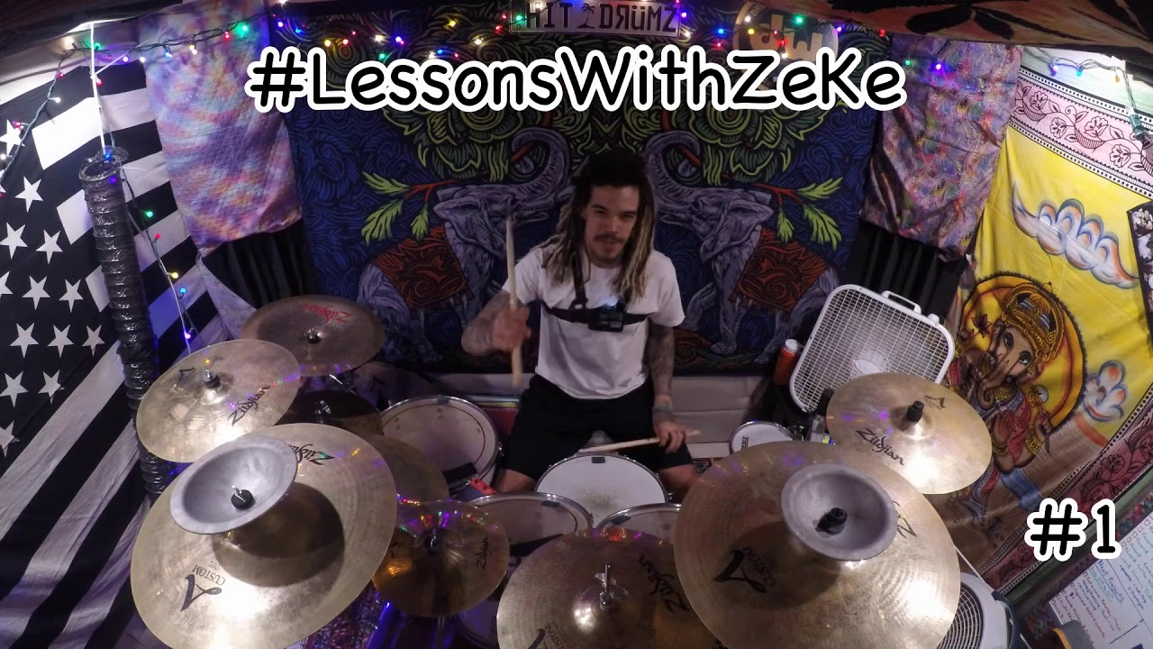 Open-Handed Drumming - Lessons With ZeKe #1 - ZeKe Plays Drums