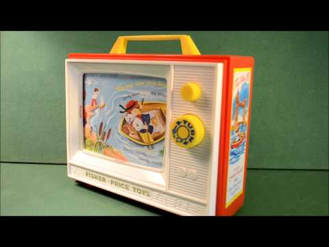 Fisher Price Toys Classic Two Tune Television  Wind Up Giant Screen TV