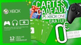 AVOIR DES CODES/CARTES CADEAUX XBOX ONE (game pass, xbox gold GRATUIT)