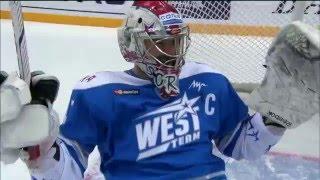 Alex Radulov saves on Sergei Mozyakin shootout effort