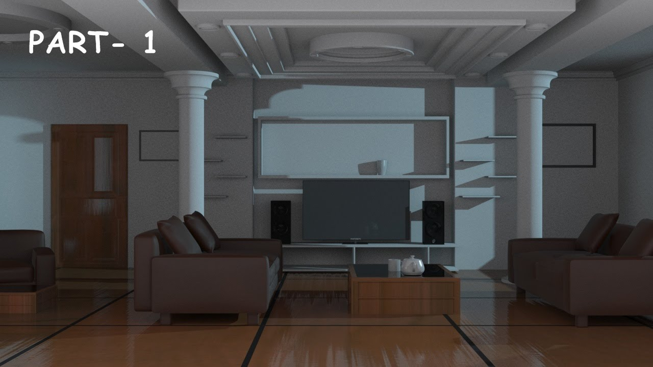 Interior modeling 3ds max tutorial 2015 youtube for Decoration 3ds max
