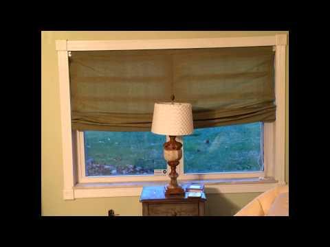 DIY No sew Roman Shade Large window 72 x48 Ladder cords no center ...