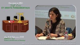 """Colloque """"Soft Law et droits fondamentaux"""" - Intervention Mme Sandrine TURGIS"""