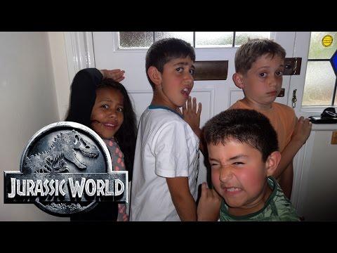 T-Rex Vs Kids: Jurassic World Parody: Dinosaur House
