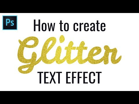 How To Make Glitter Text Effect In Photoshop