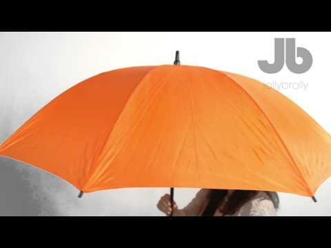 Orange Plain Golf Umbrella by Jollybrolly