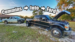 homepage tile video photo for FUMMINS BUILD! Part 1 | Tearing Into Both Trucks!