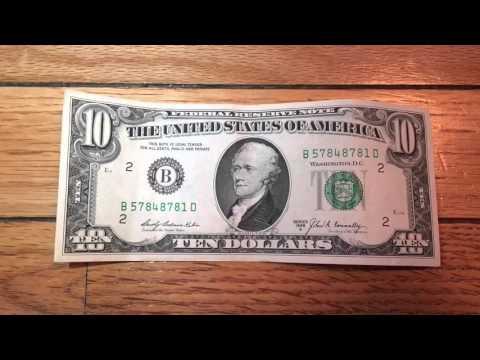 John Kennedy Conspiracy Rare 10 Dollar Bill