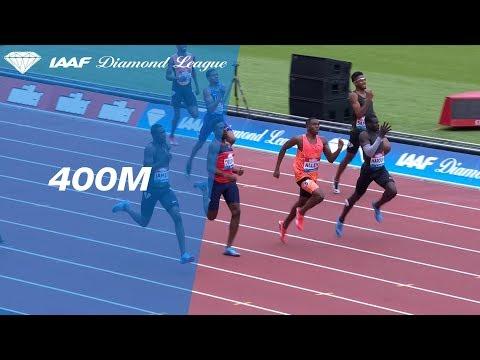 Abdalleleh Haroun 44.07 Wins Men's 400m - IAAF Diamond League London 2018