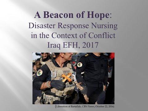 Webinar: Disaster Response Nursing in Iraq