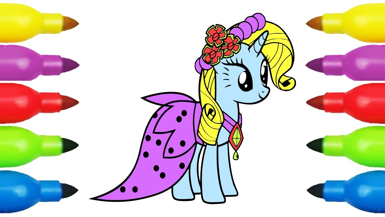 my little pony coloring pages pony drawing for kids painting