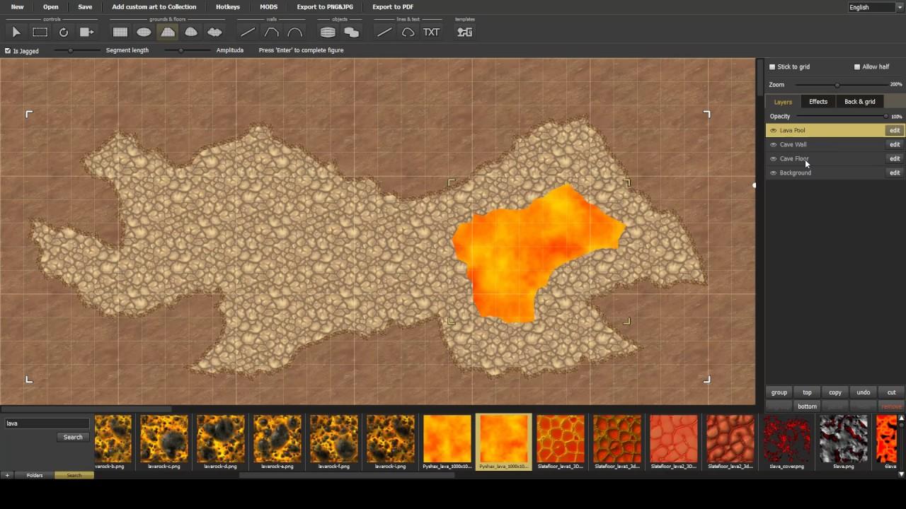 Dungeon Painter Studio - Subtraction creating pool