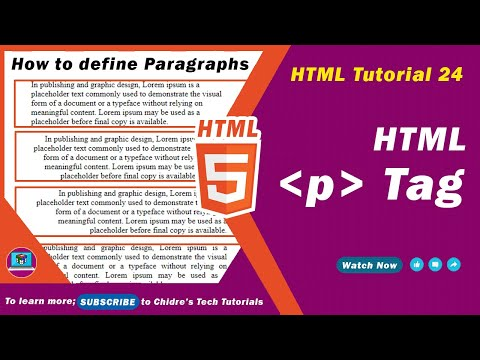 HTML Video Tutorial - 24 - Html P Tag