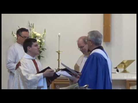 Installation of Andrew D'Angio White at St. David's Kennebunk