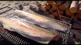 WILD TROUT  over OPEN FIRE {Catch Clean Cook} Hells Canyon