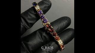 G_RADE Jewelry 지레이드 쥬얼리 [Rainbow Small Logo Tennis Link Chia…