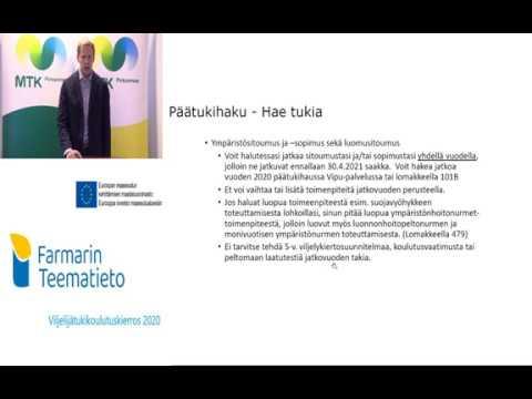 Farmarin Teematieto Tukihaku 2020 Maaseutuelinkeinoviranomaisen asiat