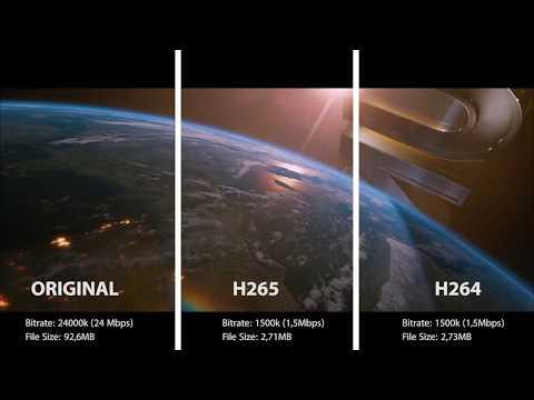 H265 (HEVC) Comparison - H265 vs H264 vs Original File