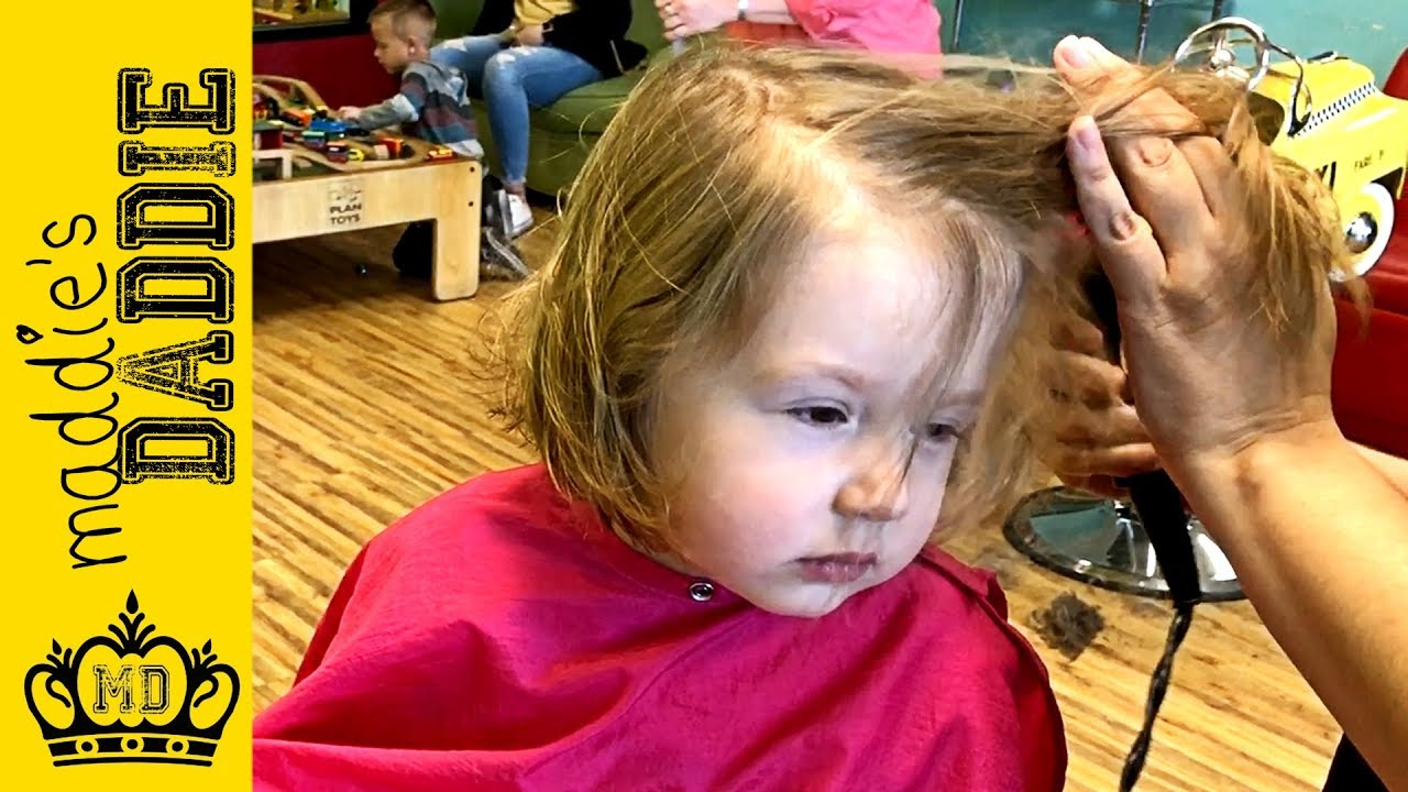Pigtails And Crewcuts Little Girl Gets Bob Style Haircut Youtube