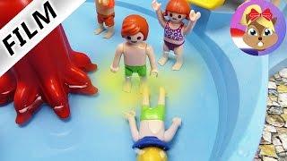 Playmobil filmpje Nederlands - JULIAN PLAST IN HET ZWEMBAD IN WATERPARK! BAH, VIES!