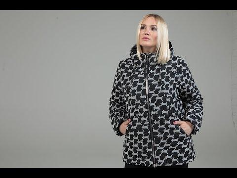 Женская куртка черная, коллекция верхней одежды Riches 2018/19
