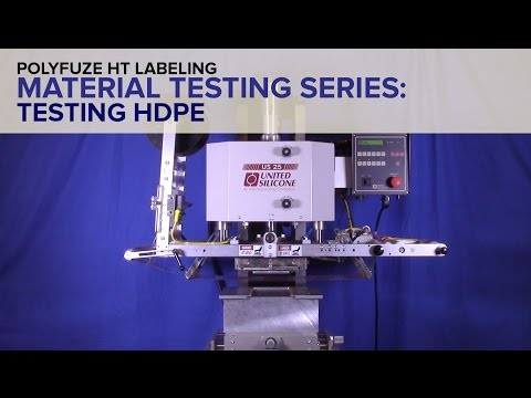 Polyfuze HT Labeling - Material Testing Series HDPE