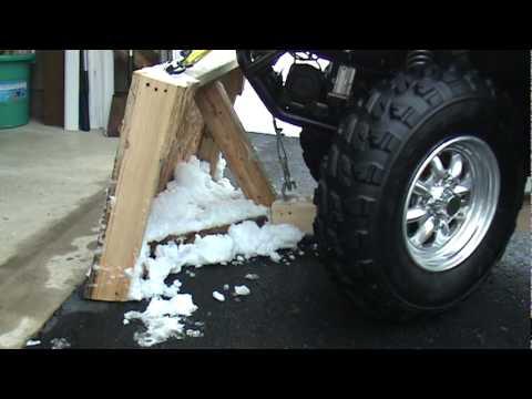 How To Homemade Atv Snow Plow Youtube