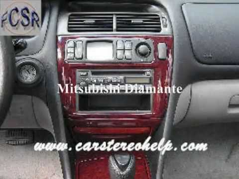 2003 Mitsubishi Eclipse Infinity Radio Wiring Diagram Pioneer Deh P2500 Diamante Car Stereo Removal Youtube