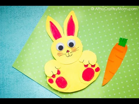 Rocking Paper Rabbit Craft Easy Paper Craft Ideas For Kids