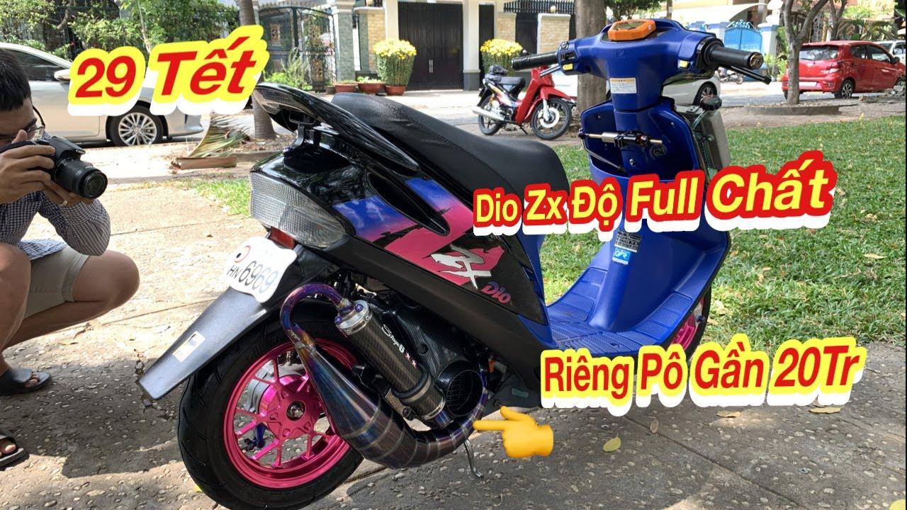 Bắt Gặp Xe Dio ZX Độ Full Tiếng Pô Nghe Cực Chất - 29 Tết Cafe Bụi Gặp Dio ZX