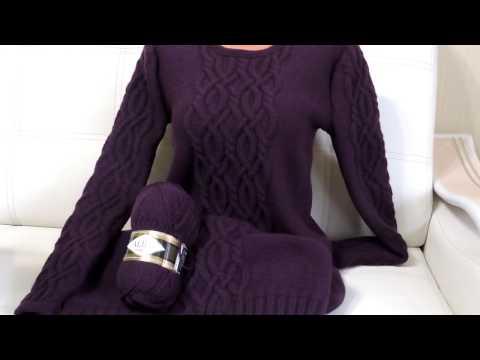 Вязаное платье зимнее спицами для женщин
