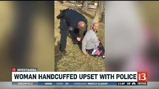 Woman Handcuffed Upset with Police