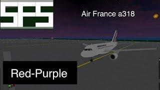 Proprietà ROBLOX . Air France a318 Rosso-Viola Sfs
