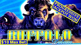✦AWESOME SESSION✦! W4 Jackpot Slot BIG WIN! Buffalo Deluxe PROGRESSIVE JACKPOT & Super Free Games |