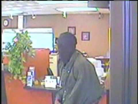 Violent Bank Robbery Caught On Tape
