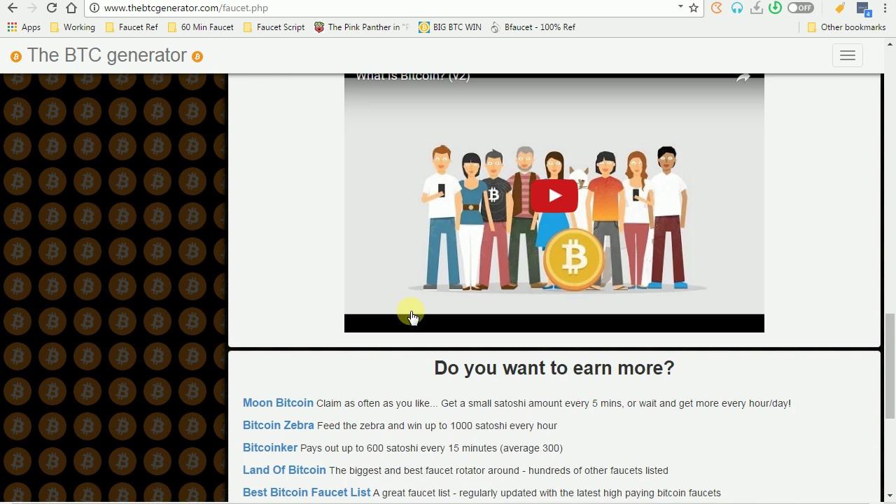 thebtcgenerator.com - Bitcoin scam site Part 1 - Faucet claim ...