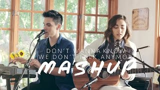 Repeat youtube video Don't Wanna Know/We Don't Talk Anymore MASHUP - Sam Tsui & Alex G