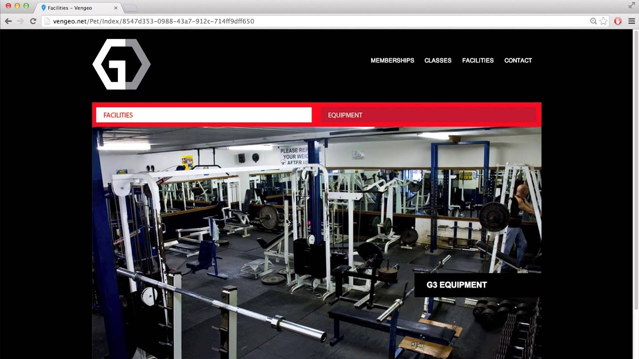 gym website templates