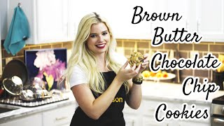 Baking Brown Butter Chocolate Chip Cookies | Allison Heinen