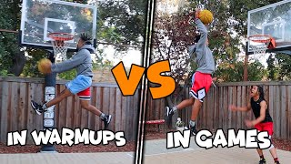 Dunkers In Warmups Vs Dunkers In Games Be Like..(Part 2)