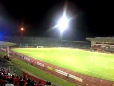 Sarawak Fans react to a goal VS T-Team Travel Video