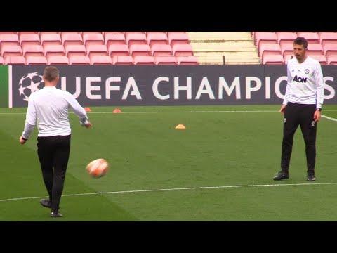 Man Utd Train At Nou Camp Ahead Of Barcelona Champions League Clash