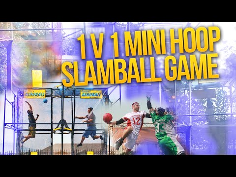 SUPER FUN 1 V 1 MINI HOOP SLAM BALL ESC GAME! IRL AEROBALL THRILLER!