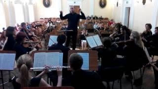 Моцарт Симфония 40 часть 1 дирижер Михаил Вандаловский 11 06 2016 вид из оркестра