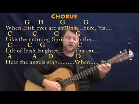 When Irish Eyes Are Smiling (Traditional) Guitar Cover Lesson in G with Chords/Lyrics - Munson
