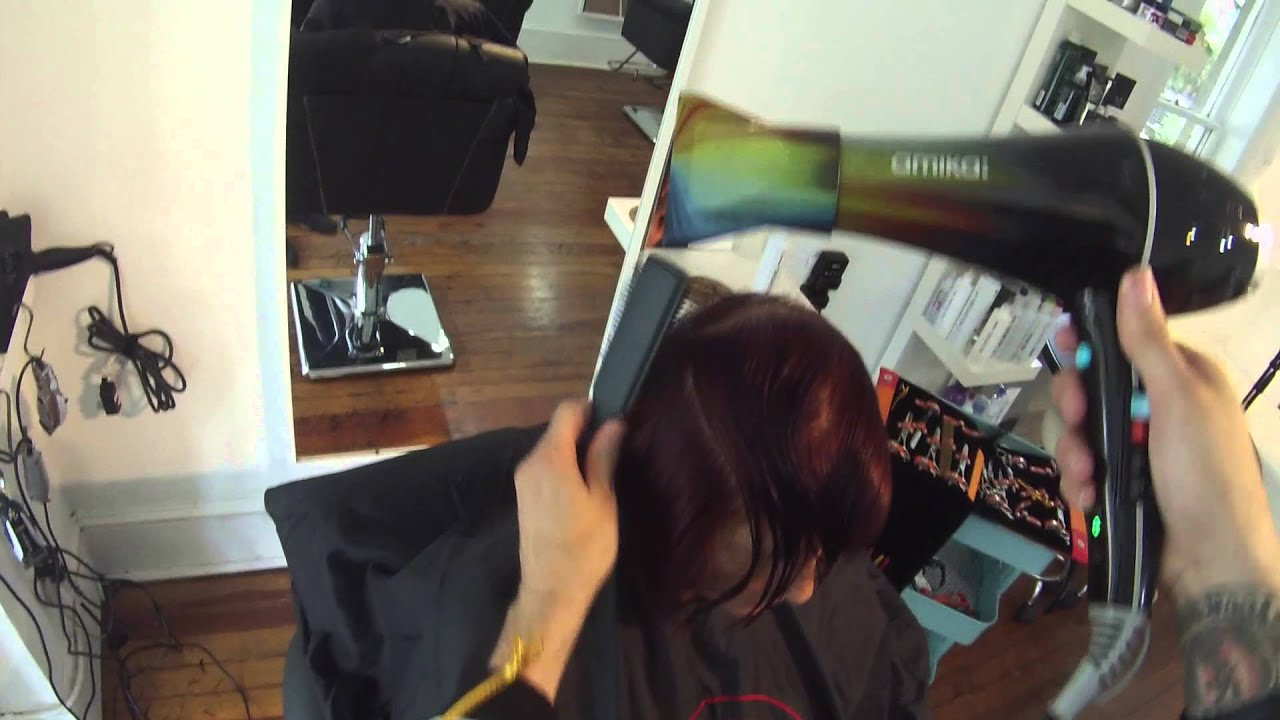 Haircut - How to cut a Graduated A-Line BOB - Point Of View Haircutting