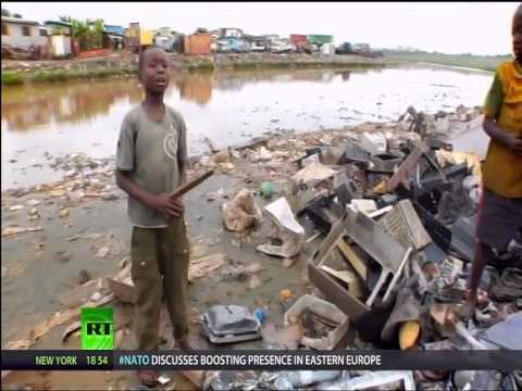 U.S. Dumping on Ghana - E-Waste Disaster (RT)