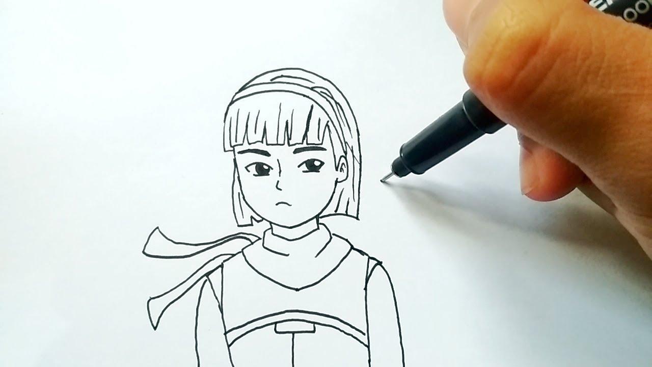 Menggambar Ejen Alicia Versi Kartun 2D Dari Animasi Ejen Ali