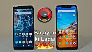 Xiaomi Poco F1 vs Mi A2 Speed Test : Never Expected 🔥